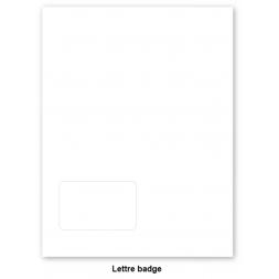 pack de 400 lettres badges a4 vierges auto laminantes