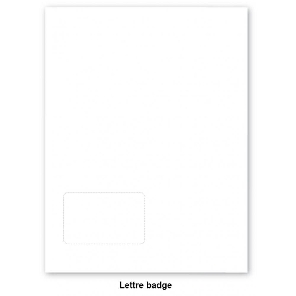 400 lettres badges A4 vierges auto-laminantes
