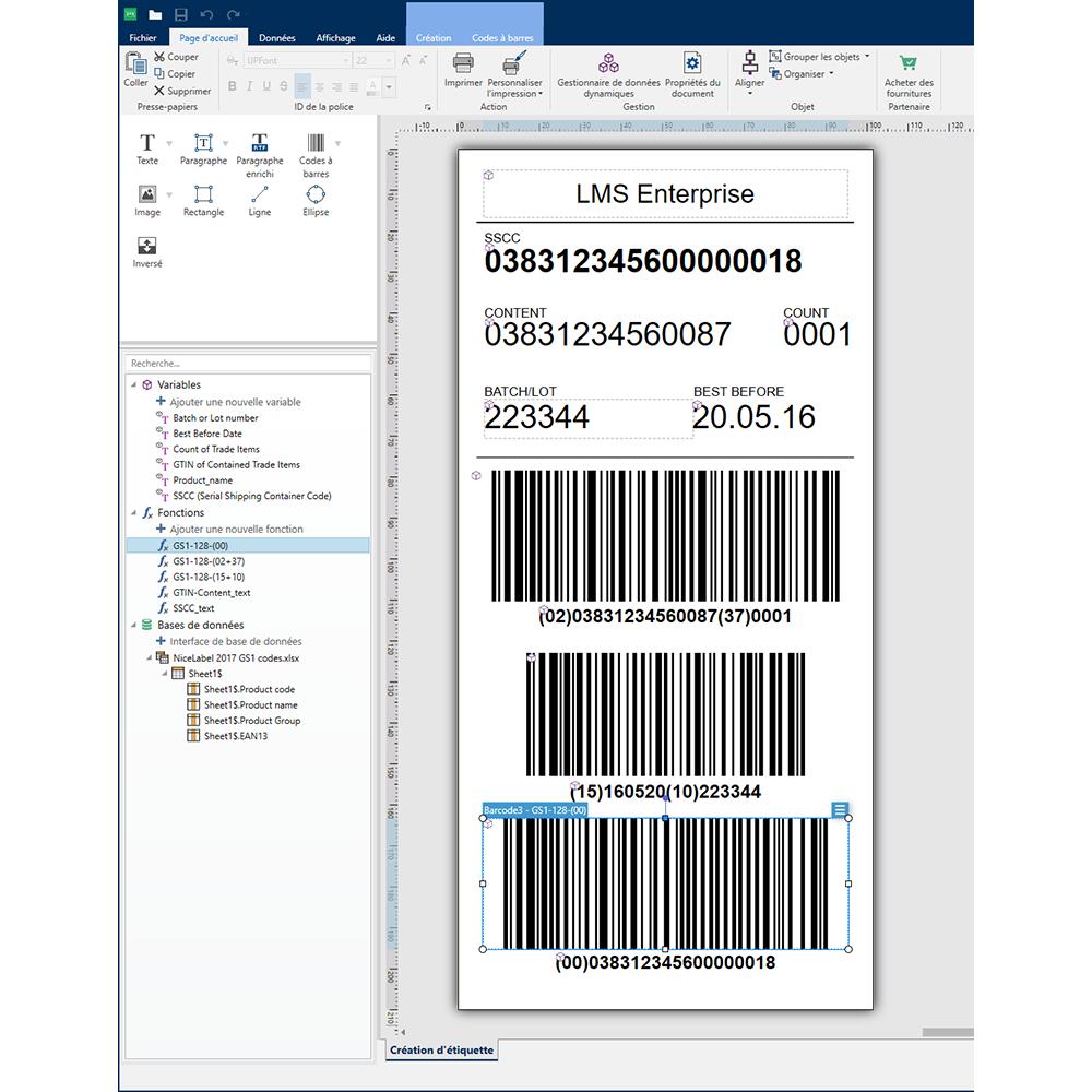 nicelabel designer label creation software