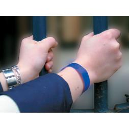 bracelets vinyle classiques pailletes bleu sur poignet