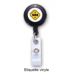 customized plastic retractable reel for badge sbe
