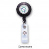 customized plastic retractable reel for badge with ratp logo