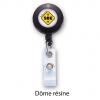 enrouleur badge personnalise avec dome resine logo sbe