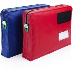 deux sacs securisees bleu rouge