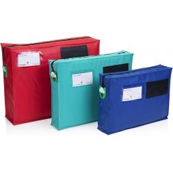 three personnalised secure transportation bags en