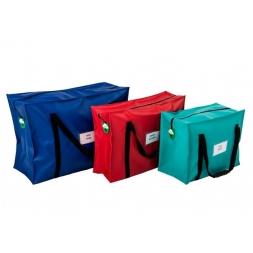 trois sacoches differentes tailles avec soufflet personnalisables