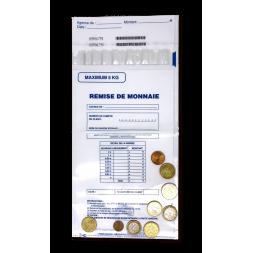 sachet scelle pour pieces de monnaie