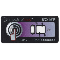 timestrip temperature indicator inspection label