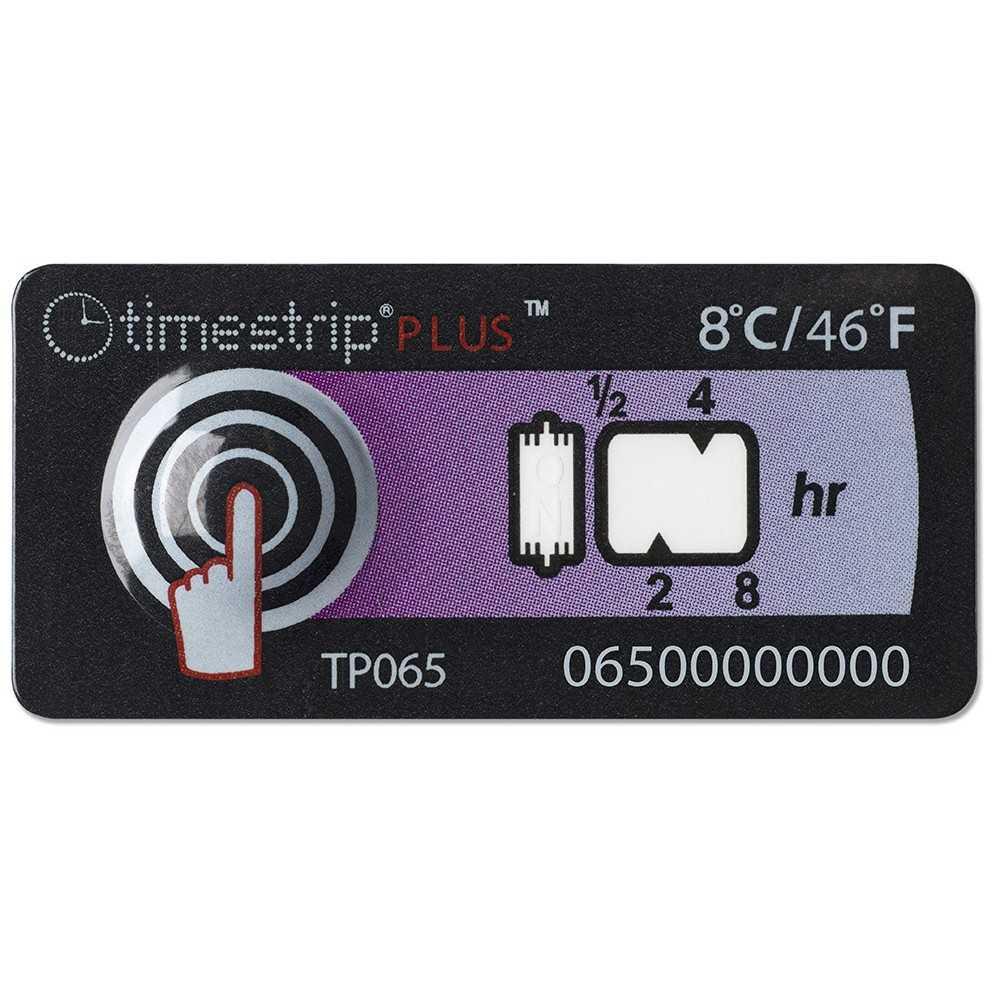 Timestrip temperature indicator