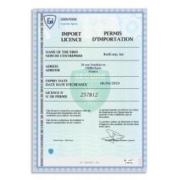 exemple utilisation papier securise personnalise permis importation
