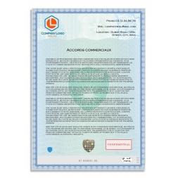 exemple utilisation papier securise personnalise accord commercial