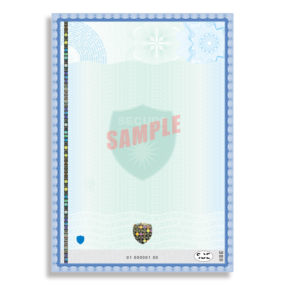 example secure paper a4 high security x21 customized