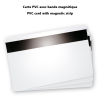 blank pvc card with magnetic strip visual