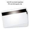 carte pvc vierge avec bande magnetique