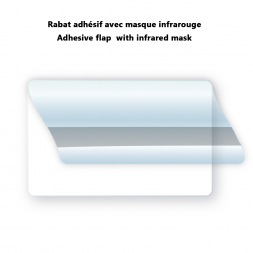 infrared mask flap to hide barcode on pvc card visual