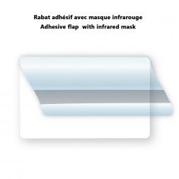 rabat masque infrarouge pour cache code barre sur carte pvc