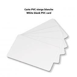 carte pvc vierge blanche
