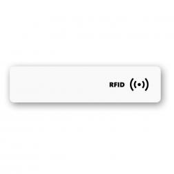 etiquette rfid Impression Quadrichromie format rectangulaire