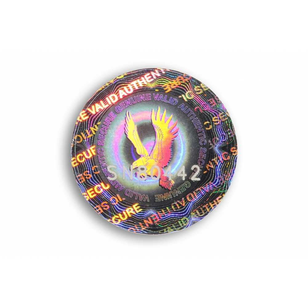 Authentication hologram void standard round format
