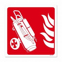 Panneau lutte incendie picto extincteur sur roues