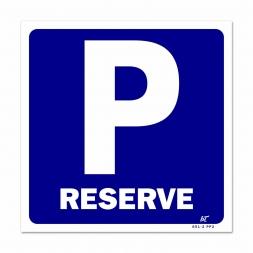 """Panneau signalisation picto parking """"réservé"""""""
