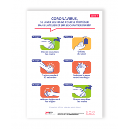 affiche coronavirus les etapes pour le lavage des mains