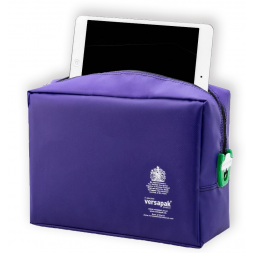 Protective padded case for personal electronic devices open
