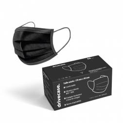 masque chirurgical jetable noir avec boite