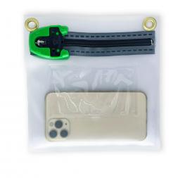 Pochette sécurisée transparente pour documents personnels et smartphones avec smartphone