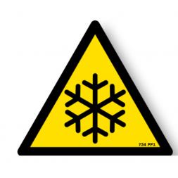 Panneau danger picto basse température