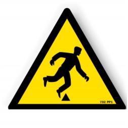 Panneau danger picto risque de trébuchement