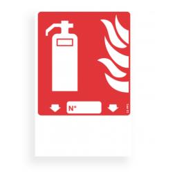 Panneau lutte incendie picto extincteur classe mobile