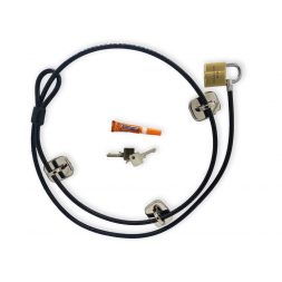 Very High-security Computer Cable Lock : The Complete Kit fixed