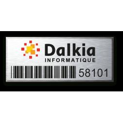 etiquette aluminium rigide anodisee gravure laser personnalisee groupe Dalkia
