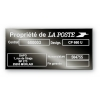 black plate aluminum builder personalized the post office