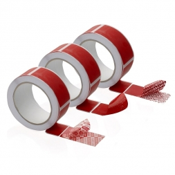 roll of anti-fraud adhesive seal multi transfers printed red differents transfers