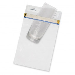 glass on customized security pouch for forensic evidence en