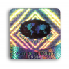 Authentication hologram void standard square shape