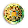 hologram of anti-burglary authentication void standard round golden color