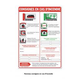 consigne en cas d incendie kit entreprise