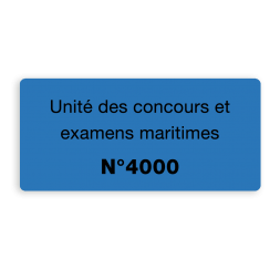 example blue security label black printing for competition written in french