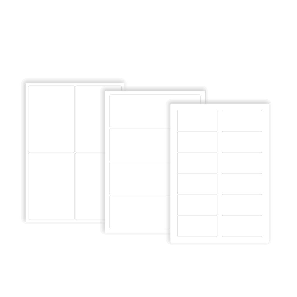 plusieurs modèles d etiquette polyester film souple en planche a4 laser