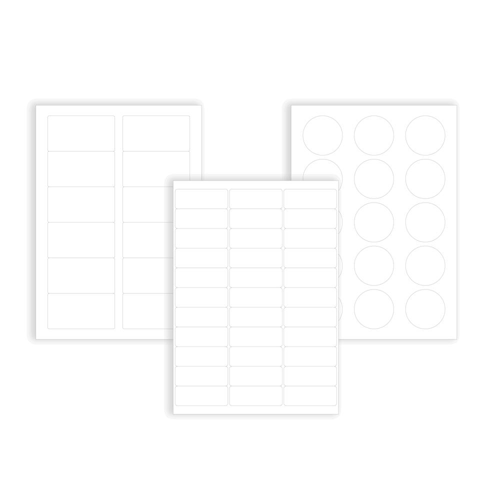plusieurs modeles d etiquette de laboratoire blanc mat pour salles blanches