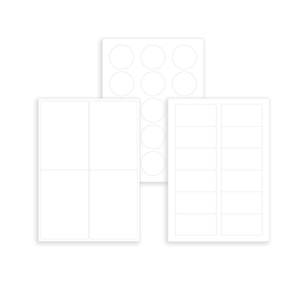 plusieurs modeles d etiquette polyester economique transparente en planche a4 laser