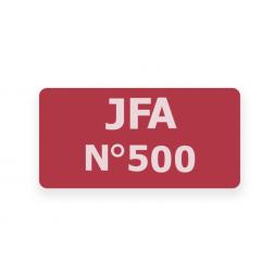 example custom red security seal white print jfa