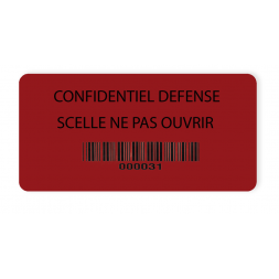 exemple scelle adhesif temperatures extremes confidentiel defense fond rouge