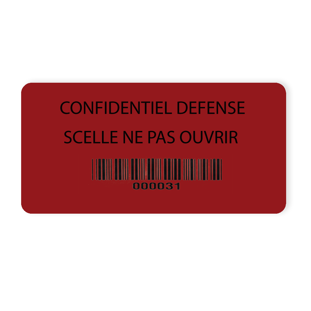 example adhesive seal temperatures extremes confidential defense red background