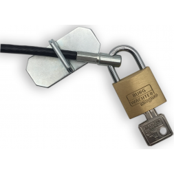 cable lock with anchor plate