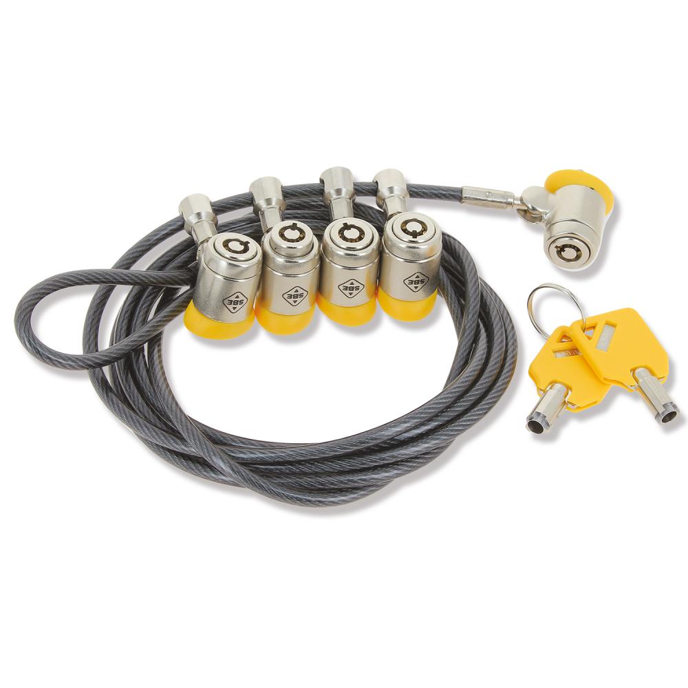 cable antivol pc multitetes