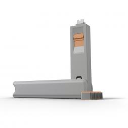Kit USB Type C port blocker orange